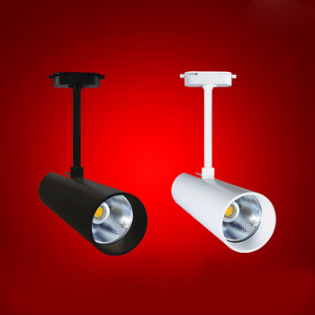 Fanlive 10 шт. светодиодный настенный трек для помещений освещение рельсов 2 провода 7 Вт 10 Вт 15 Вт COB Светодиодный фонарь Встраиваемый прожектор ...
