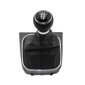 Image 4 - For VW Golf 6 A6 VI MK6 GTI GTD R20 2009 2010 2011 2012 2013 Car Stying 5 / 6 Speed Car Stick Gear Shift Knob With Leather Boot