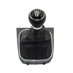 Image 4 - Для VW Golf 6 A6 VI MK6 GTI gtd R20 2009 2010 2011 2012 2013 автомобильный stying 5/6 Скорость Автомобильная липучка Шестерни рукоятка рычага переключения передач с кожаные ботинки