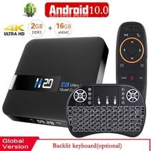 2020 Smart TV BOX Android 10 Media Player 3D Video 2.4G wifi 2GB di RAM 16GB Set Top box media player TV Ricevitore