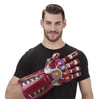 Adult Kids Avengers 4 Iron Man Hulk Infinity Gauntlet LED Gloves Cosplay PVC Gloves Arms Superhero Weapon Prop