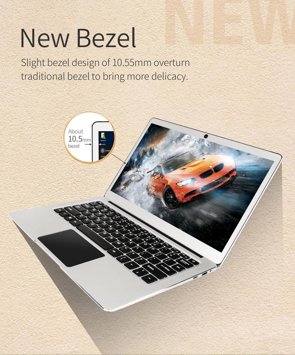 Jumper EZbook 3 Pro Laptop 13.3 Inch IPS Screen Intel J3455 6GB+64GB Notebook 2.4G/5G WiFi With M.2 SATA SSD Slot