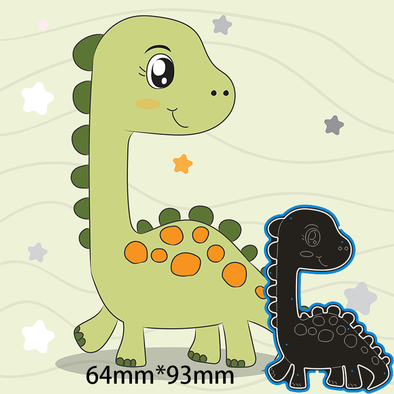 64*93mm Dinosaur Metal Cutting Dies For Card DIY Scrapbooking Stencil Paper Craft Album Template Dies