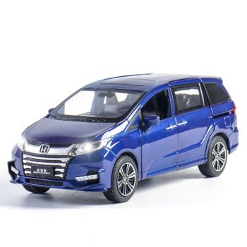 Nowy 1 32 Honda Odyssey SUV aluminiowy model samochodu Diecasts i pojazdy zabawkowe samochody zabawki darmowa wysyłka zabawki dla dzieci dla dzieci prezenty zabawki dla chłopca tanie i dobre opinie Metal 3 lat no fire Inne Samochód