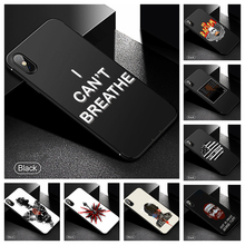 I Can't Breathe Phone Case George Soft Cover Black for Iphone SE2 11 Pro Max 6 7 8plus 5 X XS XR Xsmax and Samsung S10 S9 Series muhammad ali phone case boxing king black soft cover for iphone 11 pro max 6 7 8plus 5s x xs xr xsmax for samsung s10 series