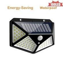 цена на Solar Light 100 LED Outdoors Solar Garden Light Waterproof PIR Motion Sensor Wall Lamp Spotlights Emergency Street Solar Lamp 4