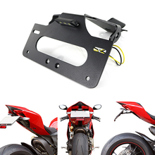 Fit For Ducati 899 959 1199 1299 Panigale License Plate Holder Bracket Rear Tail Tidy Fender Eliminator kit 5052 T6 Aluminum