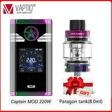 Gift Paragon Tank Vape mod 220W Vaptio Captain Box MOD Electronic Cigarette fits dual 18650 Battery 510 thread atomizer vape kit