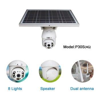 2MP 1080P Cctv inalámbrico sensor de seguridad Pir 4G Cámara Solar IP Panel Solar alimentado por batería Cctv Cámara al aire libre