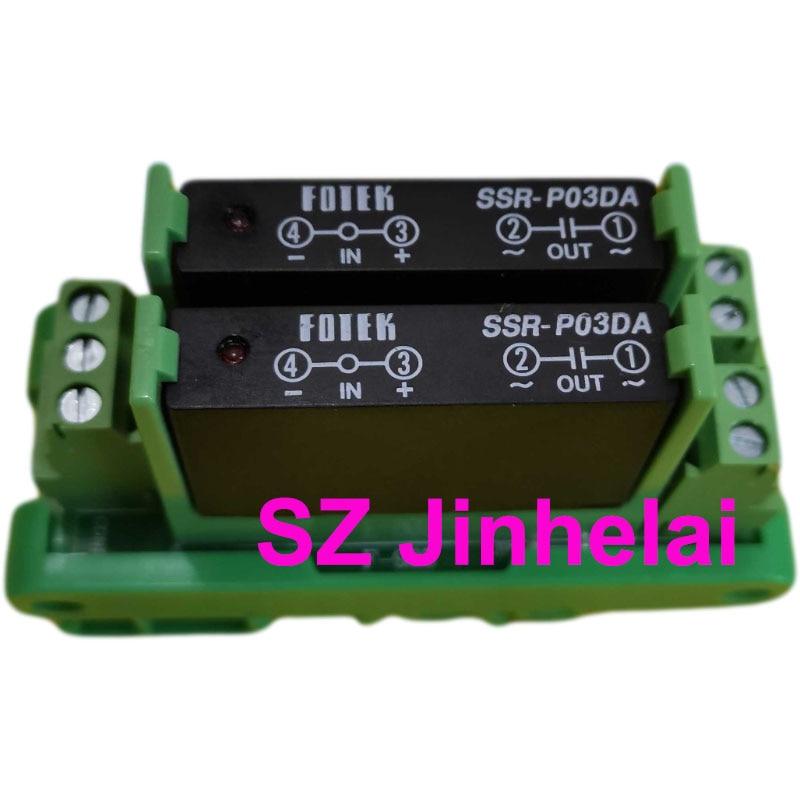 Fotek SSR-P03DA + SSR-P03N-2P autêntico relé de