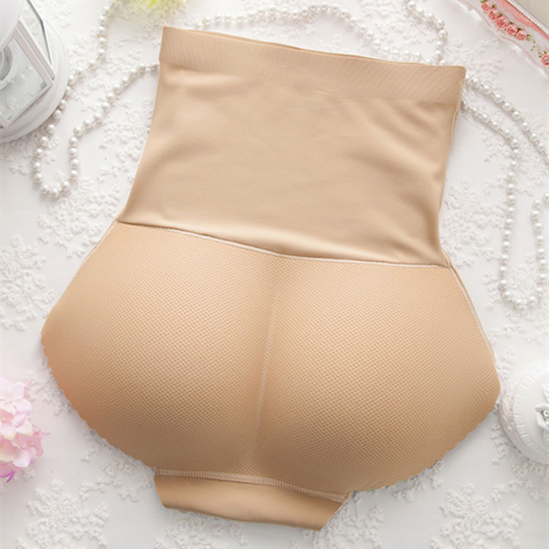Women High Waist Seamless Body Shaping Boxer Hips Seamless Slimming Tummy Body Shaper Fake Ass Butt Lift Briefs