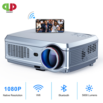 POWERFUL Full HD Projector 1080P LED proyector 3D Video Beamer HDMI for 4K Smart Android 7.1(2G+16G) Wireless Wifi Home Cinema byintek moon gp90 1280x800 cinema usb full hd video wxga led hdmi vga 1080p home theater projector beamer projetor proyector