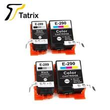 Tatrix – cartouche d'imprimante à jet d'encre, 4PK T289 T290, couleur Premium, Compatible avec Epson workflow, chine