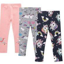 3-8 anos crianças unicórnio leggings crianças outono inverno roupas meninas bonito impressão algodão calças apertadas meninas calças