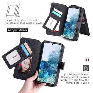 Image 5 - Megshi multifuncional caso de telefone couro para huawei p20 p30 p40 mate20 mate30 caso zíper bolsa coque