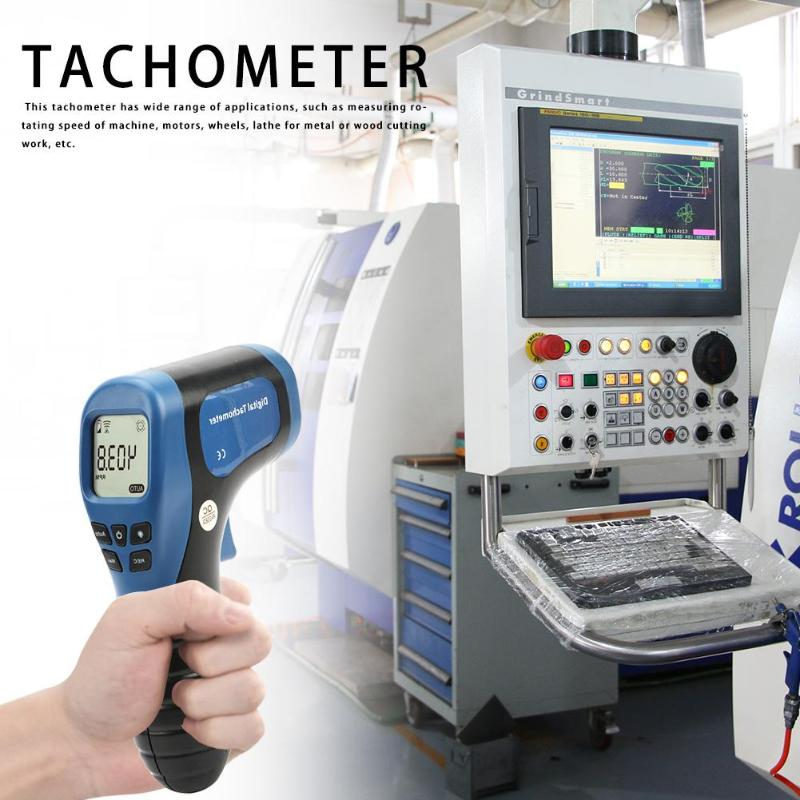 Image 2 - TL 900 Non contact Laser Digital Tachometer Speed Measuring Instruments Mearsuring Gun Automatic  Measure Digital Tachometer-in Speed Measuring Instruments from Tools