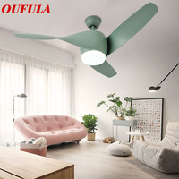 OUFULA Modern Ceiling Fan Lights Contemporary Remote Control Fan Lighting Dining room Bedroom Restaurant