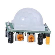 HC-SR501 regulacja piroelektryczny IR PIR podczerwieni odblaskowe ciało ruchu płyta modułu wykrywania ludzkiego dla Arduino DIY tanie tanio ELECTRICAL CN (pochodzenie) High 3 3V analog sensor vibration sensor position sensor DC 4 5V- 20V 50uA 0 5-200S (adjustable)