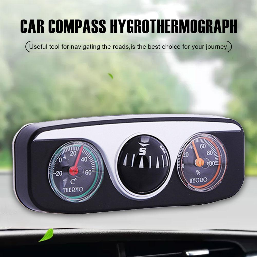 Автомобильный компас, термометр, гигрометр, наружный походный мяч, украшение для автомобиля, аксессуары для интерьера автомобиля, для автом...