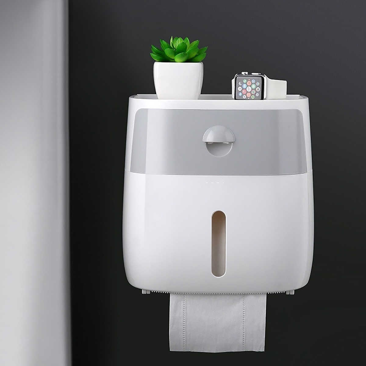 Tissue Box Bathroom Paper Towel Mobile Phone Holder For Kitchen Hand Paper Dispenser Bathroom Accessory Wall Mounted