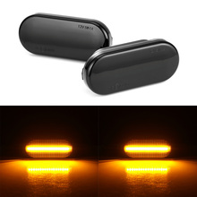Car Side Marker LED Water Flow Turn Signal Light Lamp Amber 3528SMD For Carnival Golf Bora Ford Skoda Car Side Signal Light 1 pc lh side mirror signal light driver side turn lamp for ford f150 high configuration
