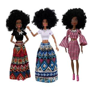 2020 black doll 31cm girl Baby Dolls The slim african girl doll For Girls bath Birthday Movable Joint African Doll Toy princess