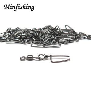 Image 5 - 250 pcs/set Fishing Swivel Snap Rolling Swivel Size 2 4 6 8 10# Hook Line Connector Fishing Tool