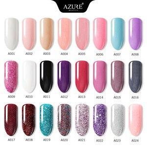Image 2 - AZURE BEAUTY 30 шт./лот, полный набор, градиентный цвет, окунающий порошок, набор кистей для дизайна ногтей, Holo, блестящий порошок, блестящий порошок для ногтей, набор для пудры
