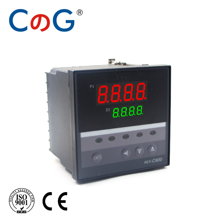 CG <font><b>REX</b></font>-<font><b>C900</b></font> 96*96mm 600 Degree Input K J PT100 0-10V 4-20mA <font><b>PID</b></font> Output SSR Relay 220V 24V 380V Thermostat Temperature Controller image