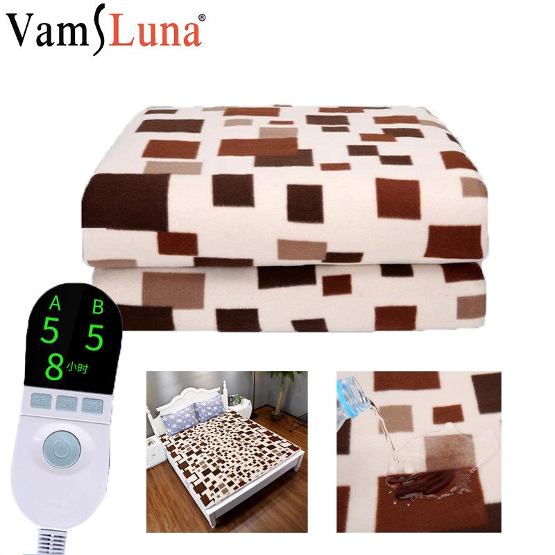 180x150 Electric Heating Blanket Thermostat Waterproof Blanket Double Body Warmer Winter Bed Mattress Electric Heated Carpet