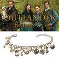 Outlander Serie TV Claire Randall Фрейзер Джейми Sassenach Винтаж Подвески Браслет цепочка браслеты со звеньями, рождественские украшения