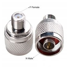 2PCS N Male Plug to F Female Jack RF Coaxial Adapter Adaptor Connector