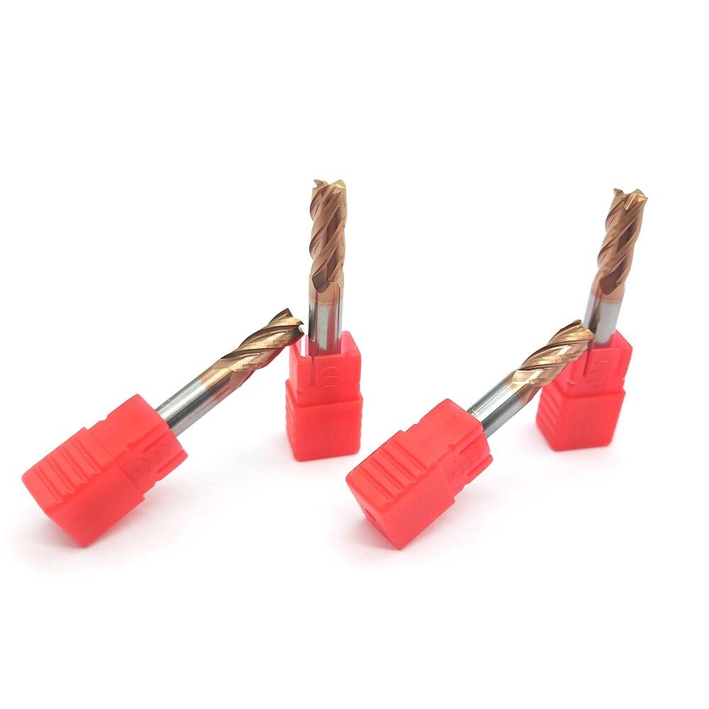 10PCS Endmill Flauta 4 HRC60 6MM D6X15XD6X50L