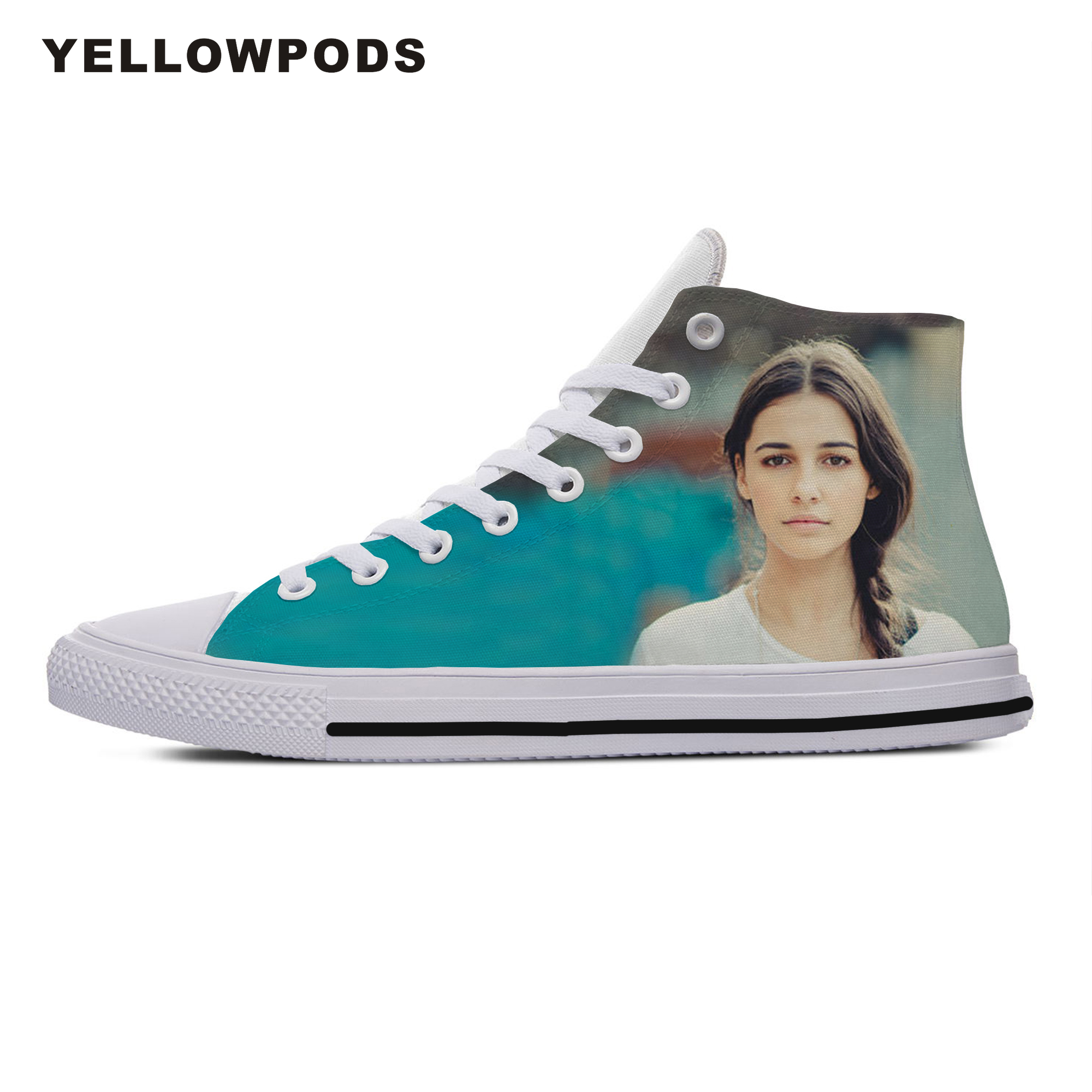 Personality Men's Casual Shoes Hot Cool Pop Funny High Quality Handiness Naomi Scott Cute Cartoon Custom Sneakers White