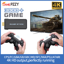 Portable 4K TV Video Game Konsol dengan 2.4G Wireless Controller Dukungan CPS PS1 Game Klasik Retro Konsol Game HDMI Output(China)