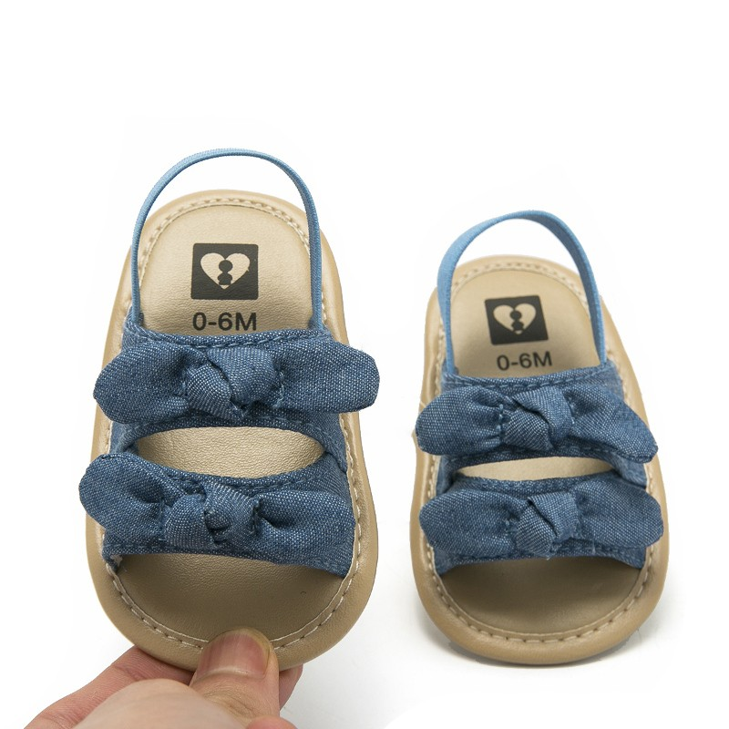 Toddler Baby Soft Sole Bowknot Shoes Crib Prewalker Shoes Summer Infant Baby Shoes 2019 Newborn Girl Sandals