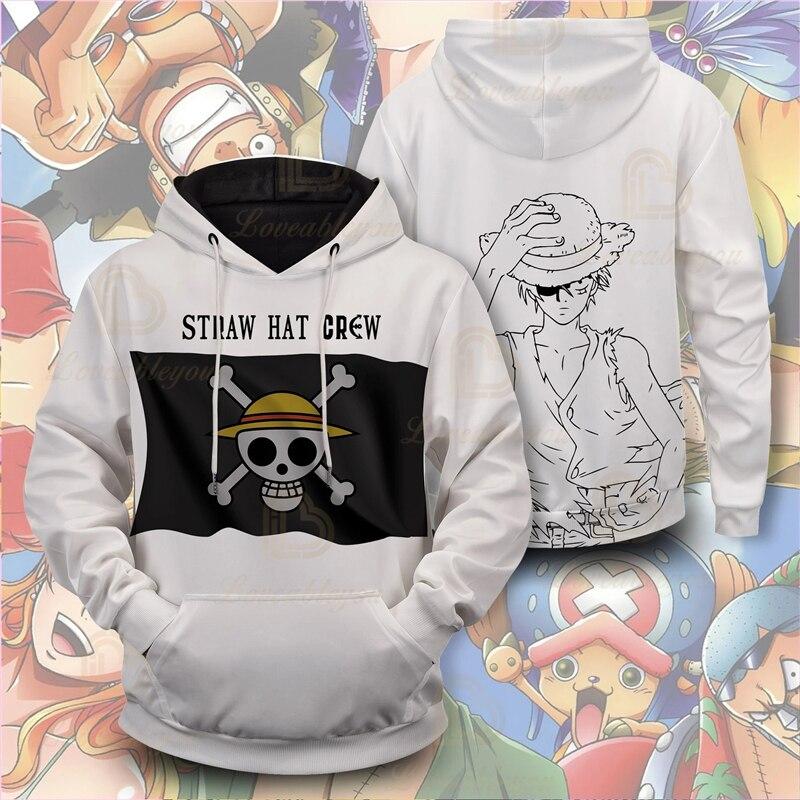 ¡Novedad! Sudadera con capucha de una pieza con diseño de pirata y barba blanca, sudadera de invierno con estampado de dibujos animados de Anime para hombre y mujer