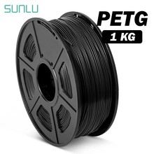 Filamento petg da transluciência de sunlu para a impressora 3d 1.75mm boa dureza filamento de petg 1kg com material consumível do abajur do carretel