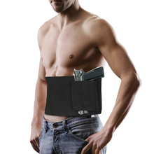 37inch Tactical Belly Band Holster for Gun Concealed Carry Pistol Pouch Waist Bag Invisible Elastic Girdle Belt Hunting