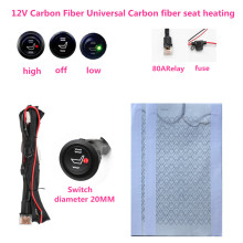 12V universal carbon fiber seat heating heater pad car heater round switch heated seat cover warm support Autumn winter