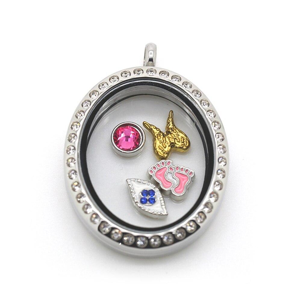 round locket necklace BOFEE