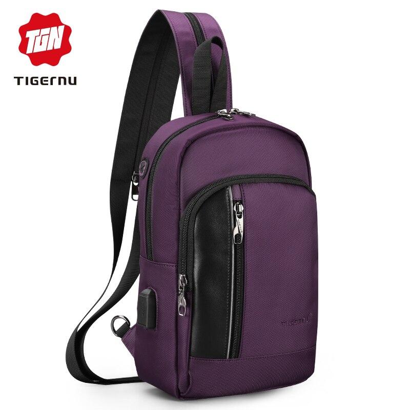 Backpack Multi-functional Women's Bag Water Resistant With Headphone Port Men's Shoulder Bags For Women 2019 Chest Crossbody Bag