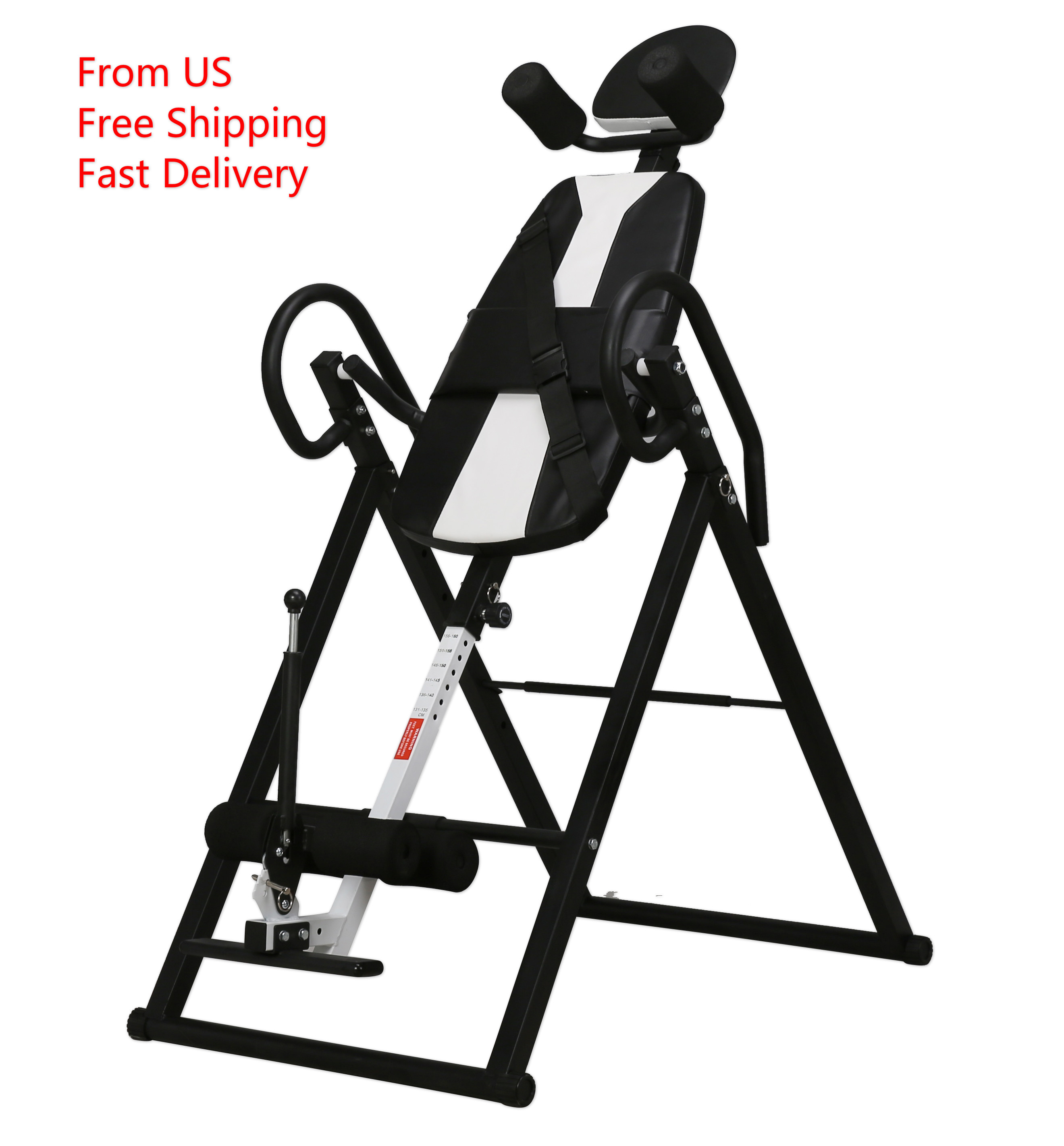Heavy Duty Gravity Inversion Table  Foldable Back Neck Pain Exercise Therapy Bench Body Sculpture Fitness Equipment
