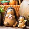 Niedlichen Igel Ornamente Cartoon Tier Ornamente Harz Kleine Igel Skulptur Blume Stehen Blumentopf Balkon Garten Dekoration