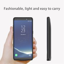 Portable Power Bank For Samsung Note 8 Rechargeable External Charging Case ABS TPU 5500mAh Large Capacity Phone Backup Battery 6500mah ultra thin fast charger battery case for samsung note 8 external power bank case for samsung galaxy note 8 charging case