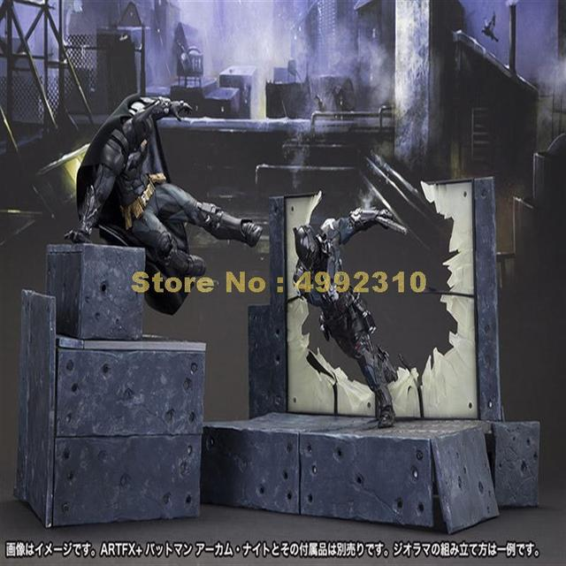 การ์ตูนBat Man Arkham Knightเคลื่อนย้ายได้Action Figure Pvc Collectionของเล่น 23 ซม