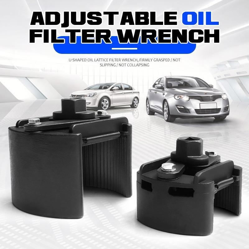 Clé universelle pour filtre à huile à 2 mâchoires réglables, en acier moulé, outil pour enlever le carburant