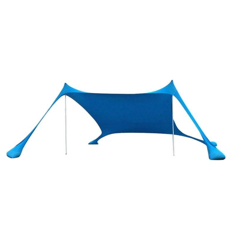 Portable Beach Tent With Sandbag Anchors Beach Sunshade Uv Sun Shelter For Beach Parks Camping