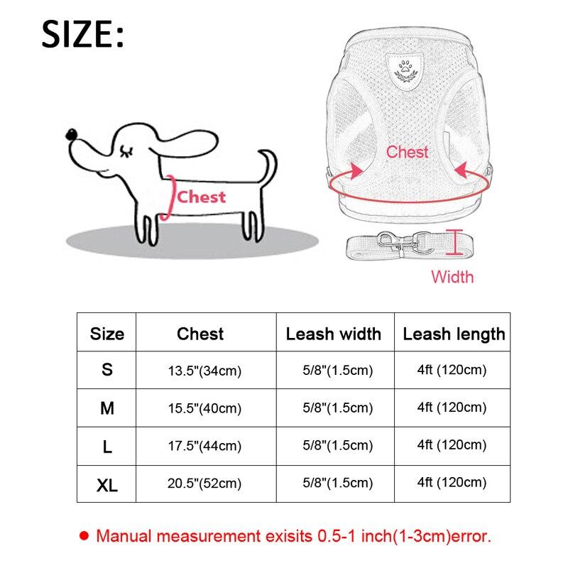 Шлейка для собак дышащая Светоотражающая шлейка регулируемый