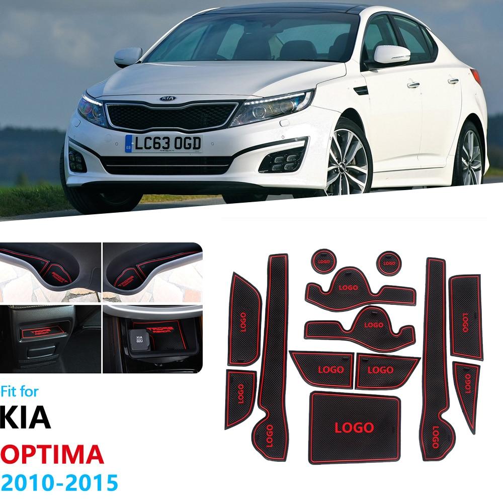 linfei Anti-Slip Rubber Gate Slot Cup Mat For Kia Sportage 2011-2015 Mk3 Sl R Door Groove Mat Accessories Car Stickers